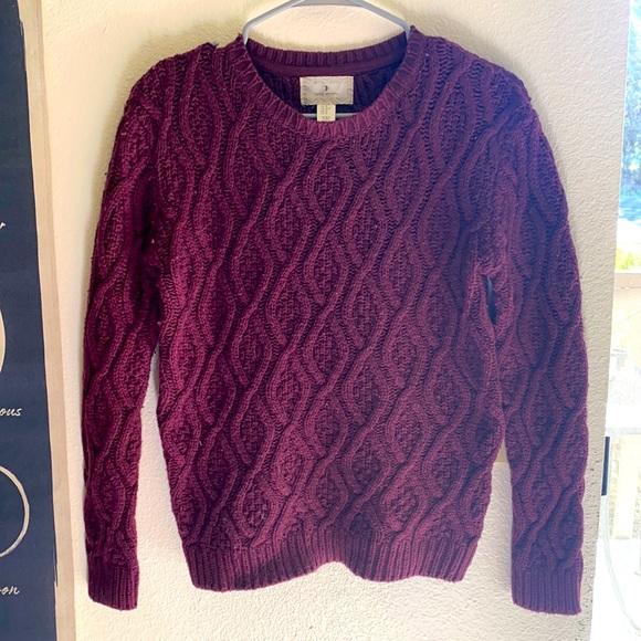 Maroon Cozy Knit Sweater 🍁🍂